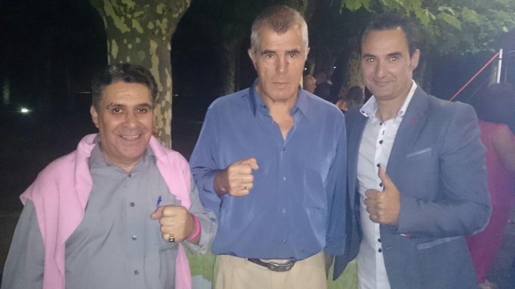 José Durán ( c ) entre Antonio Barral (izda ) y Tony Planas (drcha)