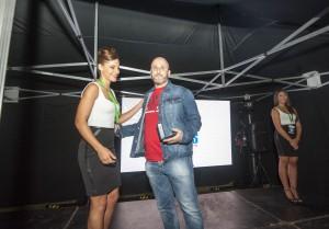 Luis Suarez, recibiendo la distinción a la COPE.   Foto Vanes Casteleiro.