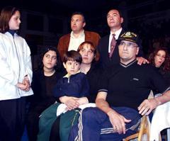 Pantera Junto a su familia durante el homenaje que se le tributó meses antes de su fallecimiento. Foto La Voz de Galicia