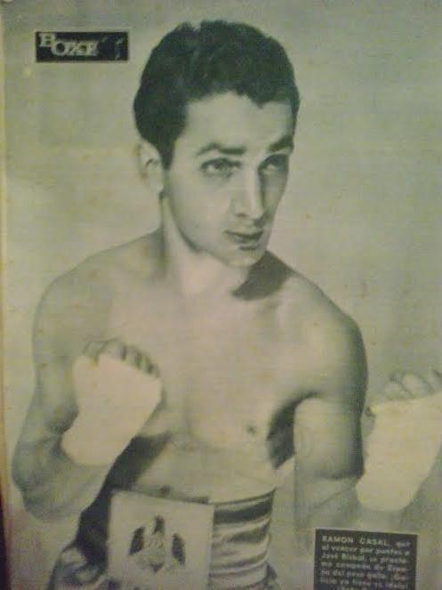 Contraportada de la revista Boxeo, con el Cinturón de campeón de España. Archivo boxeodemedianoche
