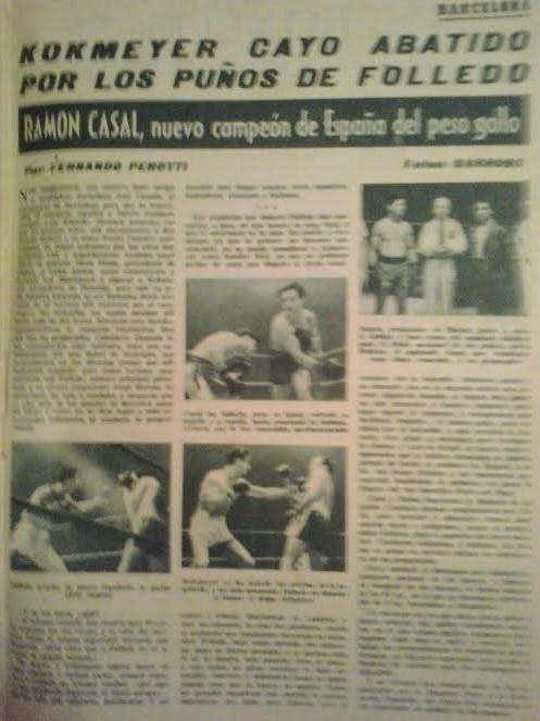 Titular a 5 columnas de la revista Boxeo, del título gallo de MONCHO CASAL. Archivo boxeodemedianoche