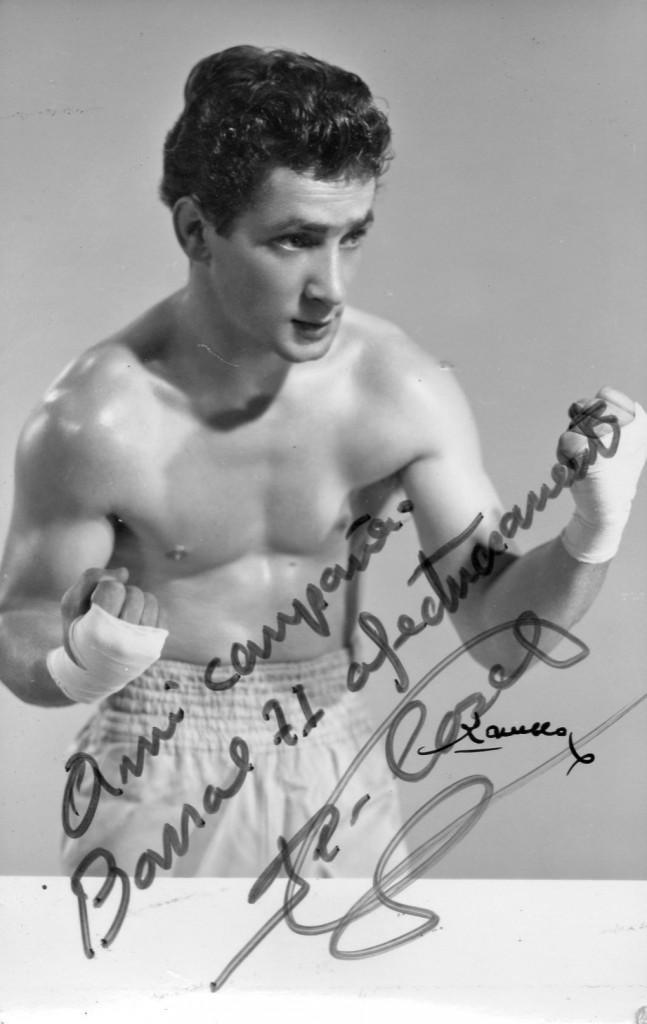 MONCHO CASAL en fotografía personalizada para BARRAL. Foto archivo boxeodemedianoche.