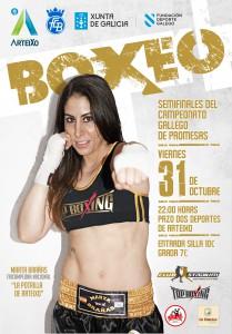 Cartel anunciador del evento boxístico de Arteixo.