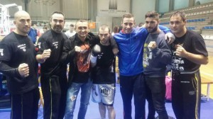 Antelo, Diéguez, Yanchy, Miras, Piñeiro, Ferreiro y Planas, al final del gran espectáculo que habían creado.