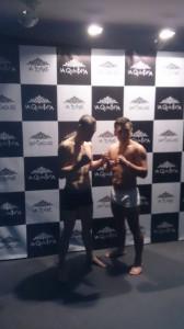 Moncho Miras y Javier Díaz durante el pesaje oficial.