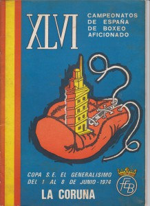 Portada del manual informativo correspondiente a los campeonatos nacionales celebrados en la ciudad herculina.