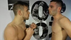 """Los """" íntimos """" rivales Adrián y Fonsi ofrecieron un gran combate en el que se impuso el primero."""