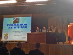 El dr. Antelo, el presidente de la FGB y los doctores Melisandra Rubio y Alex Mejuto en la inauguración del Congreso.  foto FGB.