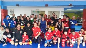 Foto de confraternidad de ínter-clubes Olimpos y Rebouras.