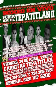 Cartel del próximo combate de Marta Sánchez en el Tepatilan II