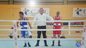 Carlos García Cal, estupefacto por la decisión de los árbitros.