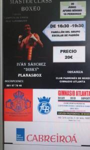 """El mítico Ivan """" DINKY """" Sánchez impartirá la Clase Magistral del Curso de Boxeo. cartel cortesía de la organización."""