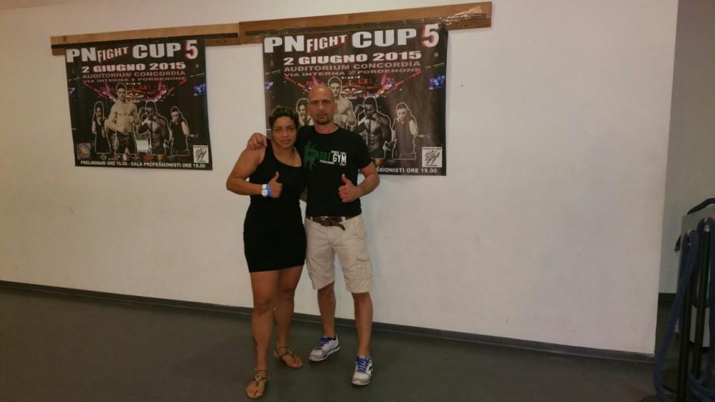 Daiana Ferreira con su entrenador