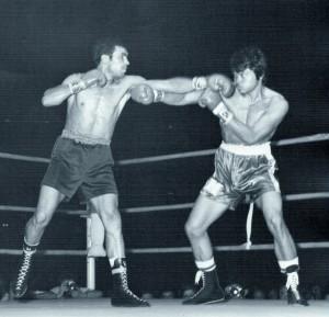 Velazquez en su combate con La Sombra del Diablo. archivo Velazquez