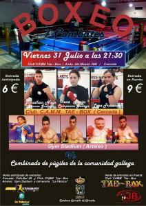 cartel anunciador de la velada de Cerceda. foto web
