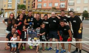 Foto de familias deportivas anunciador del Trofeo Concello de Miño. foto web Iago Barros,
