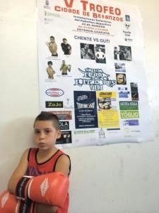 Nilo uno de los mas jovenes alumnos del Club Caneiros está ilusionado con la expectación que está levantando su exhibición de mañana.