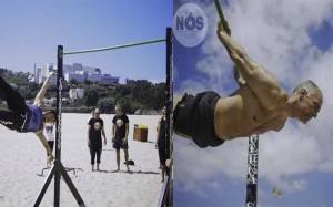 La fuerza y habilidad es una constante en la especialidad de estreet workout. foto cortesía Club Caneiros,