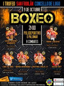 Cartel cortesía del Club Boxing Cidade de Lugo.