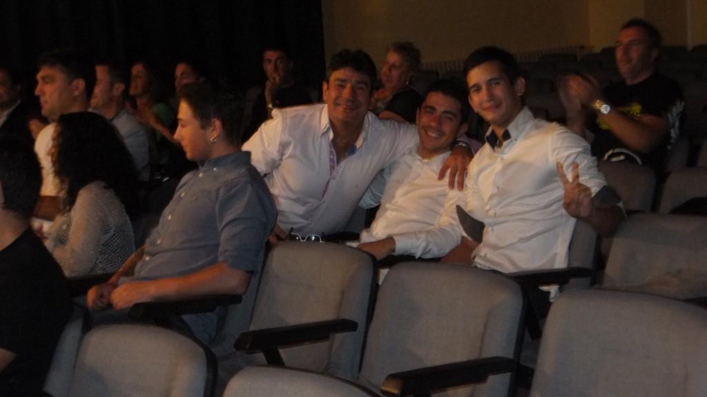 Manuel Miguez Corbal, Miguez Junior y José luis Silva.