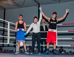 Nueva victoria de Javier Izquierdo, esta vez ante Manu Trigo. foto Juan del Rio
