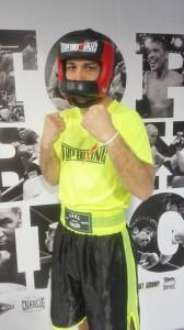 Saul Gacio, excelente púgil del PlanasBox formará parte de la terna amateuer en el Frontón. foto Top Boxing