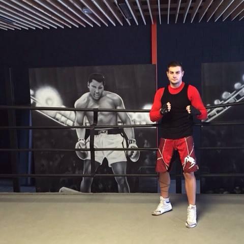 """Cristian """"Cheroki"""" Toledano del Camm Novo Milladoiro debutará en la disciplina de kickboxing. foto cortesía de José Antelo"""