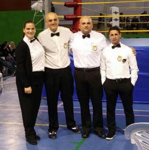 Sánchez Ramilo, Vilas Carrillo, Touriño Fernández y Suárez Rodriguez formaron la terna arbitral en Padrón. foto cortesía de José Manuel Vilas