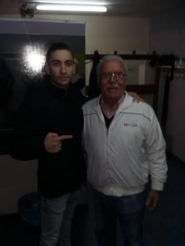 AREF FAHIM DOMINGUEZ prometedor peso pluma discípulo de Francisco Amoedo. foto Saudade.