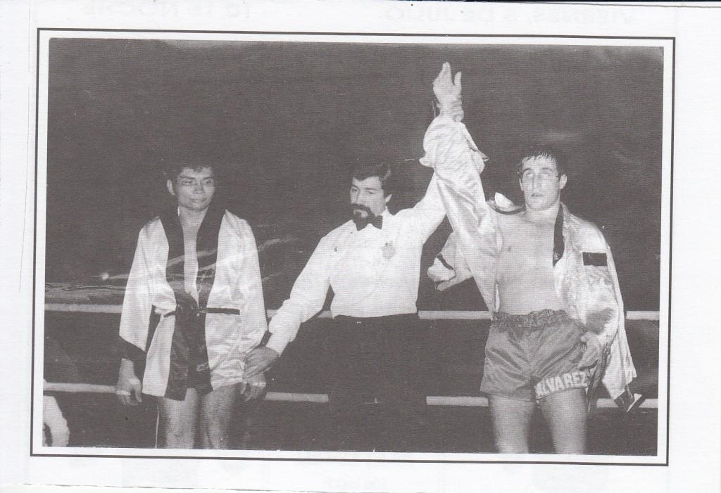 José Luis Alvarez vencedor del venezolano Aldo Olivcres. foto cortesía del Club Xoan Perez