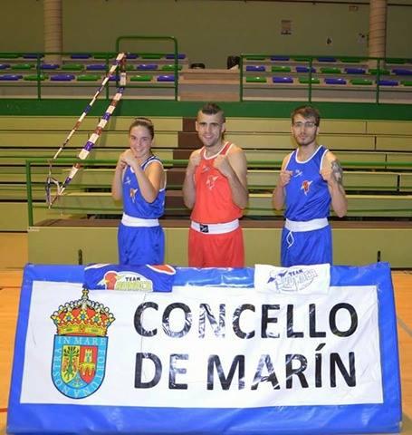 El flamante Team Thunder tendrá 2 representantes en el Bahia el día 20: ABEL FERREIRA (drcha) y AARON GONZALEZ, en la imagen con ALBA PEDROSA. foto Team Thunder
