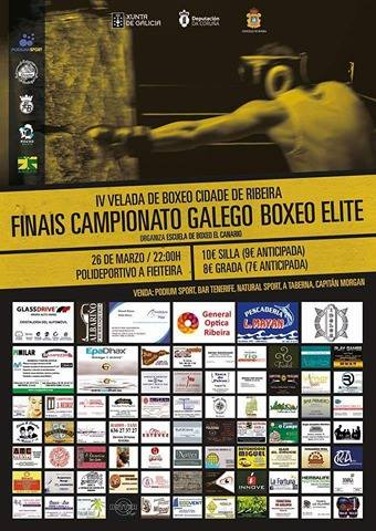 Cartel de promoción cortesía de Escuela de Boxeo El Canario.