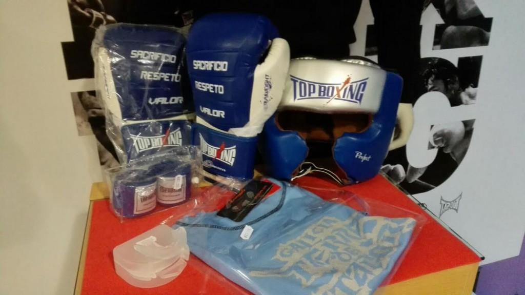 Durante el descanso se procederá al sorteo patrocinado por TOP BOXING de un lote de complementos par la práctica del Boxeo.
