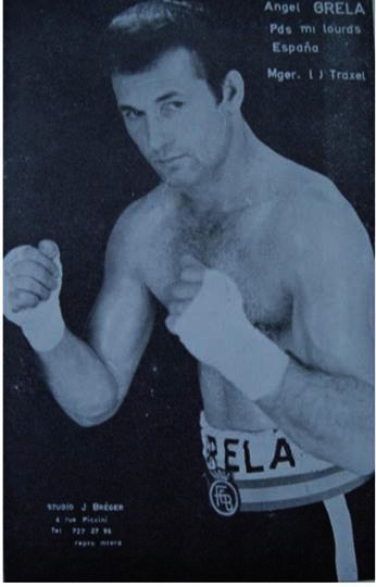 Foto de estudio de ANGEL GRELA LÓPEZ, cedida por el exboxeador coruñes FERNANDO CASTRO REY.