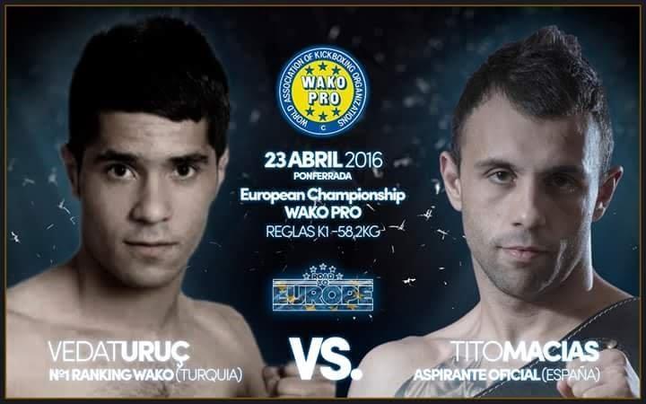 Campeón actual y aspirante al Campeonato Europeo de la categoría de 58,200 kilogramos. foto cedida por el Club Kick Boxing Valdeorras.