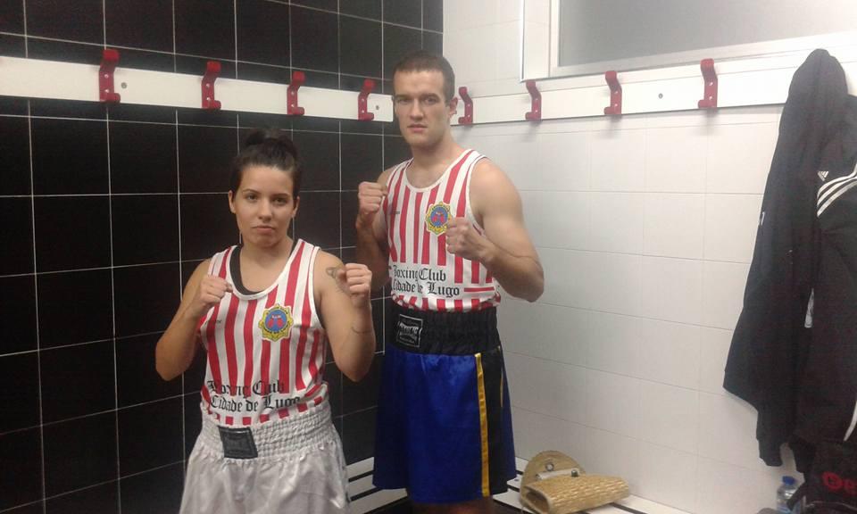 TANIA VAZ LEDESMA y CARLOS BAO del Boxing Cidade de Lugo formarán parte del excelente cartel en el Tae Box Cerceda. foto gimnasio Stadium.
