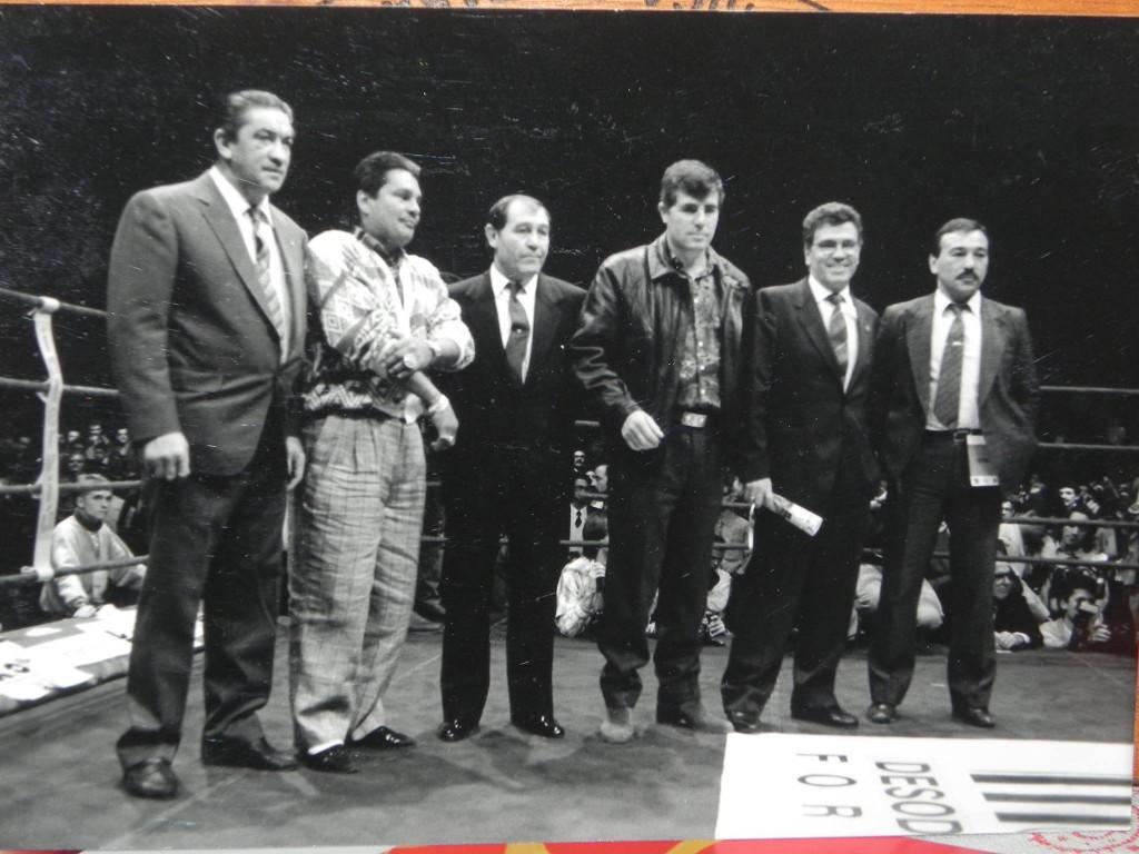 JOSÉ URTAÍN, MANO DE PIEDRA DURÁN, MANUEL CALVO, MIGUEL VELAZQUEZ Y ROBERTO CASTAÑON, 3 campeones mundiales y 3 europeos. ¡ Casi nada !