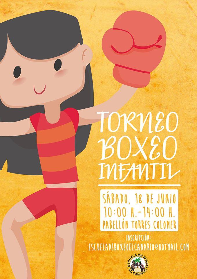 Cartel de promoción del Torneo de Boxeo Infantil organizado por Israel Benitez.