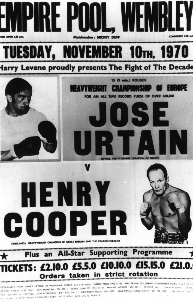 Primera derrota europea del MORROSKO DE CESTONA, el veterano HENRY COOPER, le enseño a sufrir durante 7 asaltos.