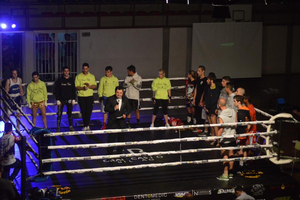 Presentación de los distintos competidores en el Calabagueiros. foto Juan Barral