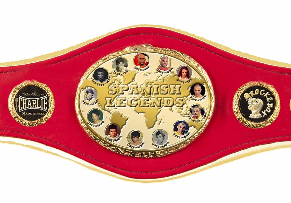 Reproducción del Cinturón ideado por ROCK&BOX para acreditar a los vencedores del SPANISH LEGENDS. web