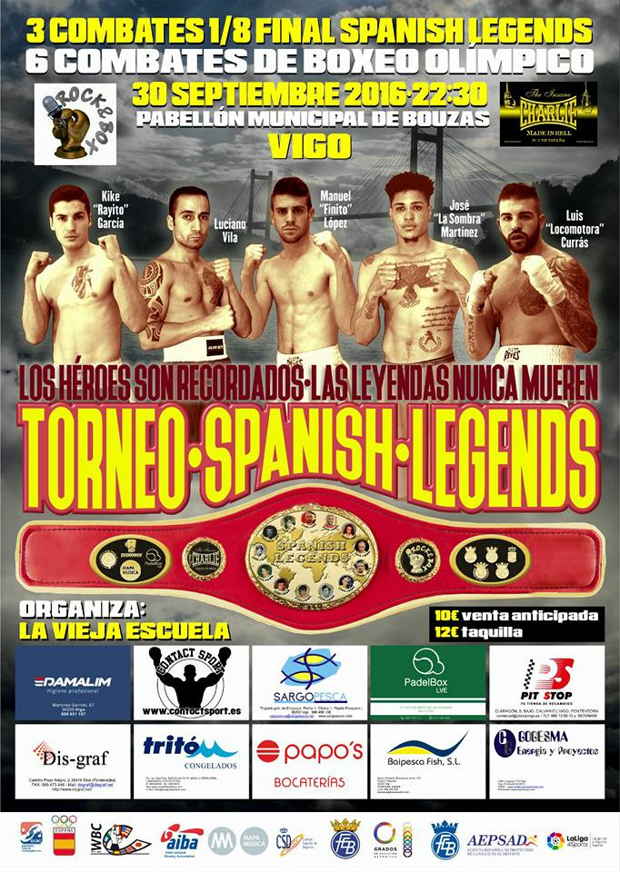 Cartel informativo de los octavos de final del torneo SPANISH LEGENDS