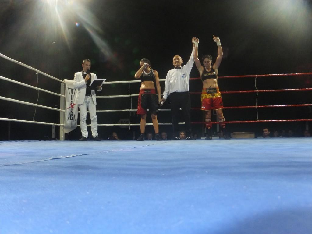 Gran combate el que protagonizaron Maribel de Sousa y Marta Brañas con victoria para La Potrilla de Arteixo.