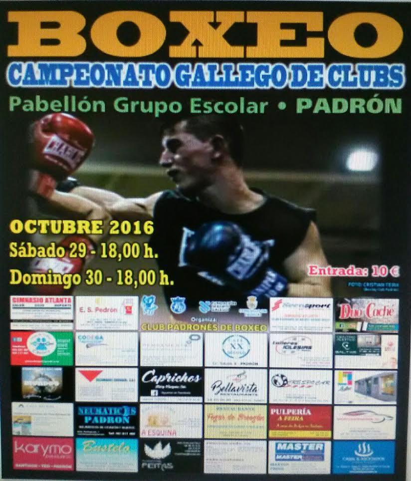 Cartel cortesía del Club Padrones de Boxeo.