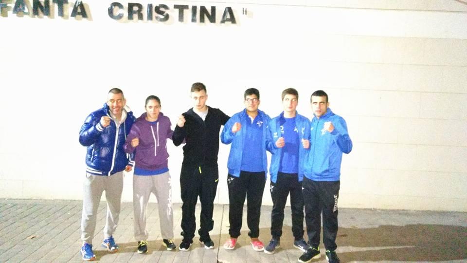 Alberto Teijeiro, Lorea Murgoitio, Berto Loureiro, Amancio Martínez, Alex Sotelo y Aarón González.
