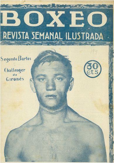 Portada de la revista Boxeo que circula por la web con la imagen del Vigues Segundo Bartos.