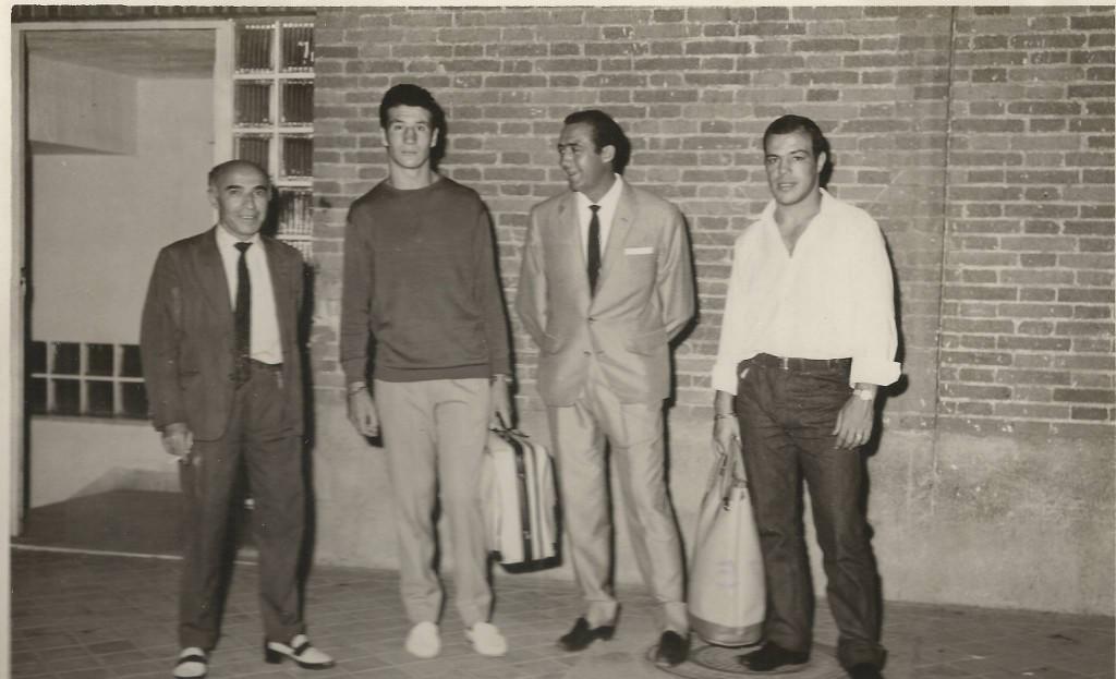 De izquierda a derecha JORGE MORENO, LUIS FOLLEDO, MARTIN BERROCAL y DIEGO INFANTES. foto revista Boxeo