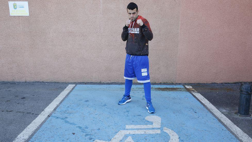 Aarón González aparcó su incapacidad transitoria a base de esfuerzo y superación. Foto de Ramón Leiro para La Voz de Galicia.