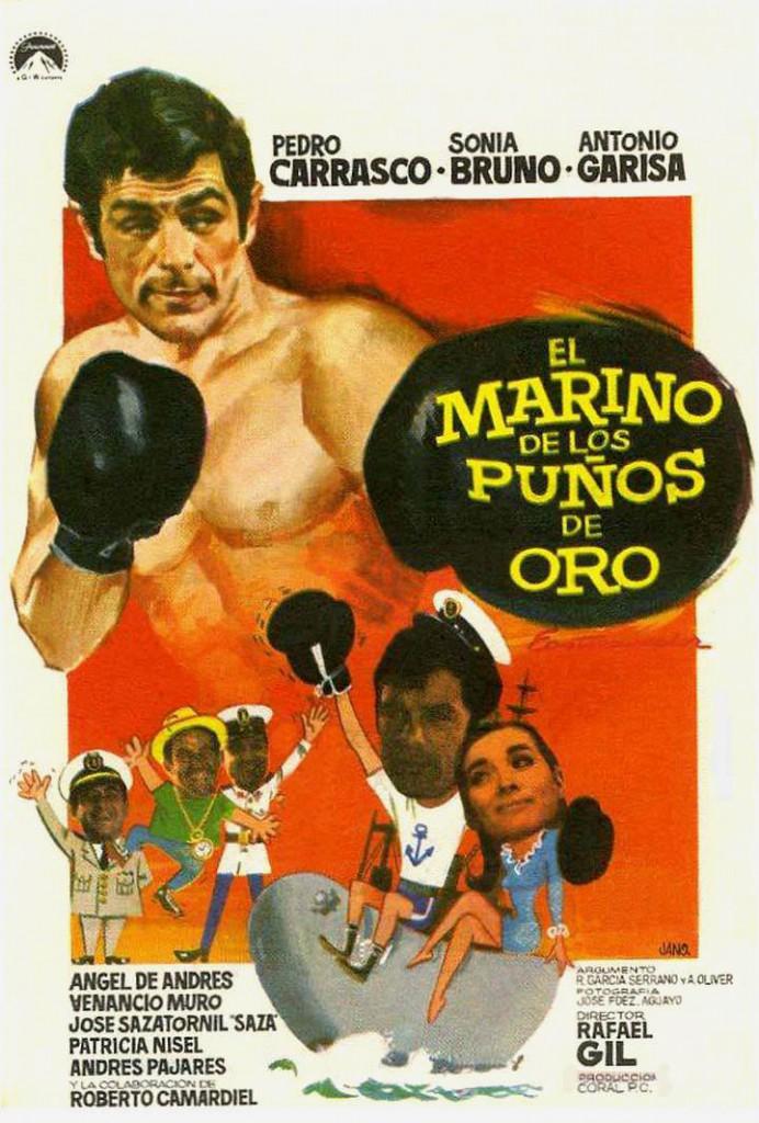 Afiche promocional de la película que protagonizó el boxeador onubense.