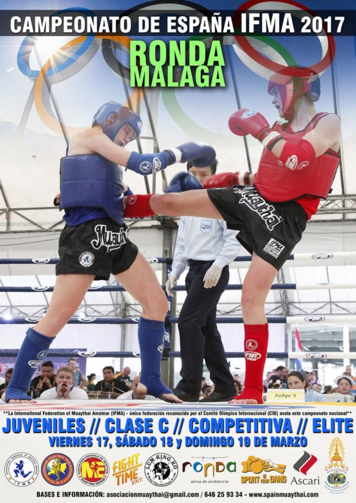 Afiche propagandístico de los Campeonatos de Muaythai.